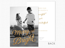 Merry and Bright Holiday Photo Cards