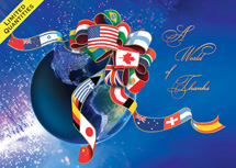 Global Thanks Holiday Greeting Cards